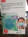 3m 1860 health care particulate respirator and surgical mask for sale  - product's photo