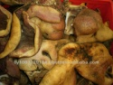 frozen beef snouts burnt - product's photo