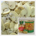 white canned champignon canned mushroom - product's photo