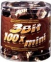 3 bit chocolate bar tube 100 mini chocolate bars - product's photo