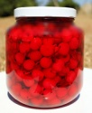 canned cherry in glass jar - product's photo