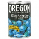 blueberries in light syrup - product's photo