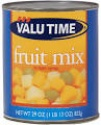 valu time fruit mix in light syrup - product's photo