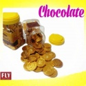 sigle package gold coin chocolate with foil layer - product's photo