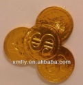 us dollar designed foil wrapped milka chocolate gold coins - product's photo