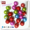 gold foil wrapped mini baseball shaped chocolate balls - product's photo