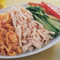 frozen steamed shreded chicken meat - product's photo
