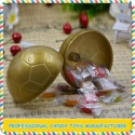 football shape plastic lollipop candy toys for confectionery - product's photo