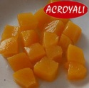canned yellow peach diced in syrup - product's photo