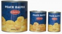 canned yellow peach halves in light syrup  - product's photo