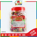 strawberry flavor bubble gum filled candy lollypop - product's photo