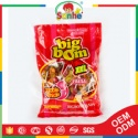 big bom round lollipop candy with bubble gum - product's photo