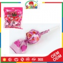 fruit lollies filled with chewing gum lollipops - product's photo