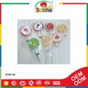 fruit shaped colorful flat lollipop - product's photo