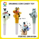 candy product type animal cow style plastic drum candy toys for baby - product's photo