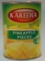 canned pineapple pieces in light syrup - product's photo