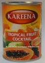 canned tropical fruit cocktail - product's photo