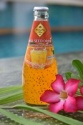 basil seed drink with orange in glass bottle (290ml) - product's photo