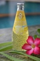 basil seed drink with banana flavor in glass bottle (290ml) - product's photo