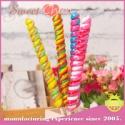 fruit flavor party gift multi-colored twist hard lollipop candy - product's photo