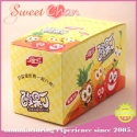 real fruits flavor cube shape soft candy with fork - product's photo