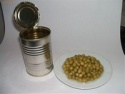 tin canned green peas - product's photo