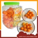 smile face orange buble gum - product's photo