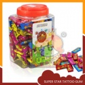 super star gum with tattoo sticker - product's photo