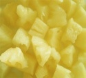 fresh pineapple pieces in heavy syrup - product's photo