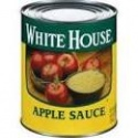 canned unsweetened white house grade apple sauce - product's photo