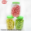 bottle packing fruity tennis ball big bubble chewing gum - product's photo
