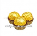 bulk golden paper wrapped nut compound ball  - product's photo