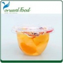mixed fruit cocktail in plastic cup - product's photo