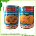 canned yellow peaches in halves - product's photo