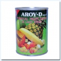 tropical fruit salad in syrup, canned fruits cocktails - product's photo