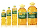 sunflower oil in the bottles - product's photo