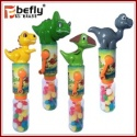 summer manual plastic dinosaur shape water gun candy toy - product's photo