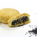 moon cake halal food and sweet health black sesame stuffing mooncake - product's photo