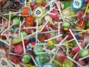 german sweet lollipop with bubble gums - product's photo