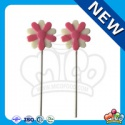flower shaped halal chocolate lollipop - product's photo