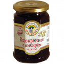 "organic cranberry jam ""blagodat"" with ginger   - product's photo"