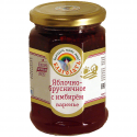 "organic apple-cranberry jam ""blagodat"" with ginger   - product's photo"