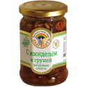 organic honey mixed «blagodat» with almonds and pears  - product's photo