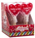 handmade lollipops 60g heart shape red colour - product's photo
