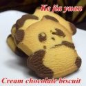 oem chocolate and milk cute little bear biscuit - product's photo