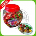 colorful gold milk compound coin chocolate and candies - product's photo