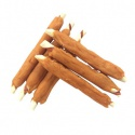 rawhide stick wrapped by pet food - product's photo