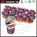 strawberry & chocolate flavors chocolate cup / biscuits stick  - product's photo