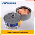 healthy oil brine salty canned tuna fish - product's photo