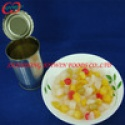canned mix fruits:peach, grape, pineapple, pear, cherry, canned fruit - product's photo